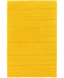 Bridgeport Home Exact Shag Exs1 Tuscan Sun Yellow 5' x 8' Area Rug