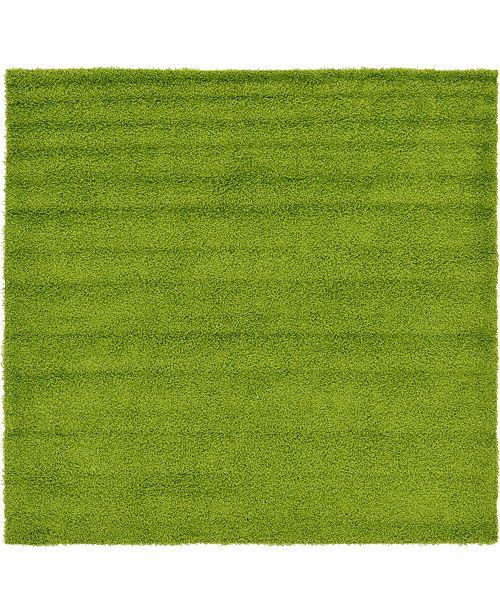 """Bridgeport Home Exact Shag Exs1 Grass Green 8' 2"""" x 8' 2"""" Square Area Rug"""