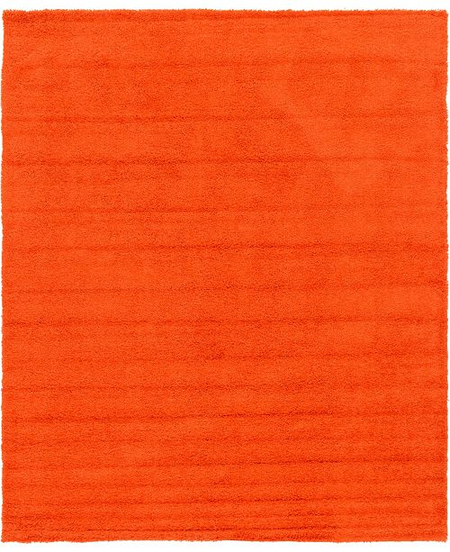 Bridgeport Home Exact Shag Exs1 Tiger Orange 12' x 15' Area Rug