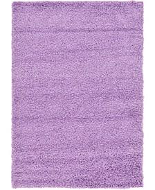 Exact Shag Exs1 Lilac 4' x 6' Area Rug