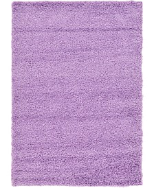 Bridgeport Home Exact Shag Exs1 Lilac 4' x 6' Area Rug