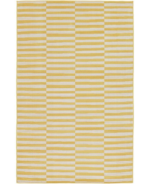 Bridgeport Home Axbridge Axb2 Yellow 5' x 8' Area Rug