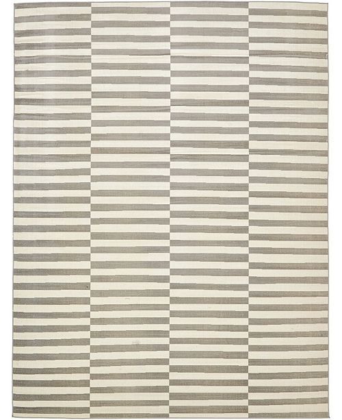 Bridgeport Home Axbridge Axb2 Gray 9' x 12' Area Rug