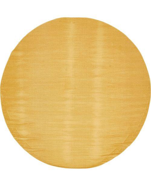 Bridgeport Home Axbridge Axb3 Gold 8' x 8' Round Area Rug