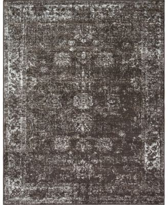 Basha Bas1 Brown 6' x 9' Area Rug