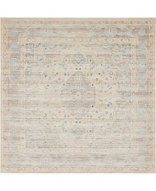 Bridgeport Home Caan Can2 Taupe 8' x 8' Square Area Rug