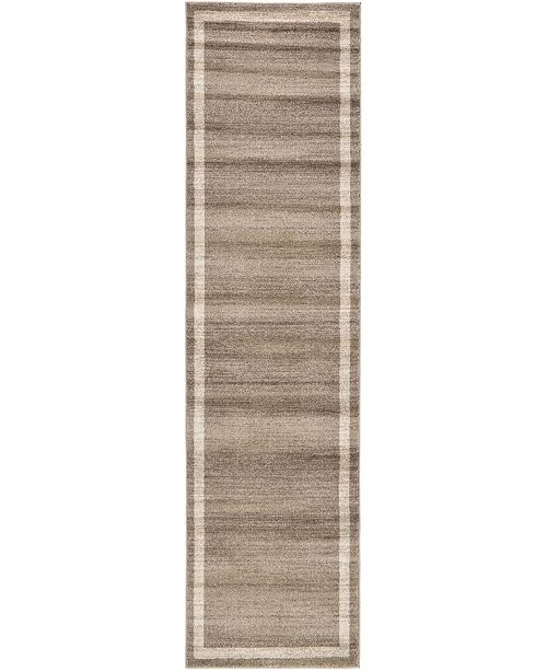 "Bridgeport Home Lyon Lyo5 Light Brown 2' 7"" x 10' Runner Area Rug"