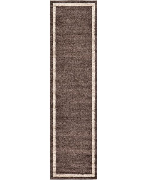 "Bridgeport Home Lyon Lyo5 Brown 2' 7"" x 10' Runner Area Rug"
