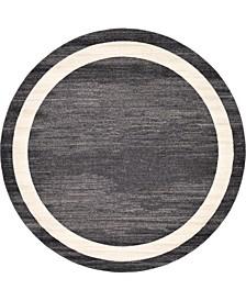 Lyon Lyo5 Black 8' x 8' Round Area Rug
