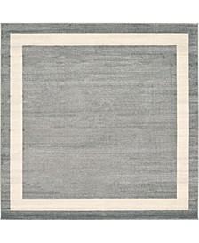 Lyon Lyo5 Gray 8' x 8' Square Area Rug