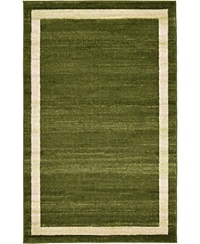 "CLOSEOUT Lyon Lyo5 Green 3' 3"" x 5' 3"" Area Rug"
