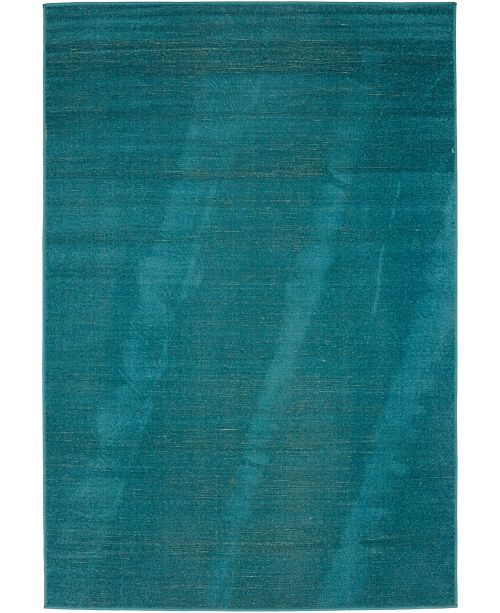 Bridgeport Home Axbridge Axb3 Teal 4' x 6' Area Rug