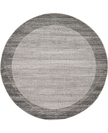 Lyon Lyo4 Light Gray 6' x 6' Round Area Rug
