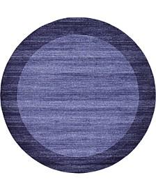 Lyon Lyo4 Navy Blue 8' x 8' Round Area Rug