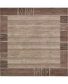 Bridgeport Home Lyon Lyo1 Light Brown 8' x 8' Square Area Rug
