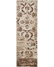 "Bridgeport Home Marshall Mar3 Chocolate Brown 3' x 9' 10"" Runner Area Rug"