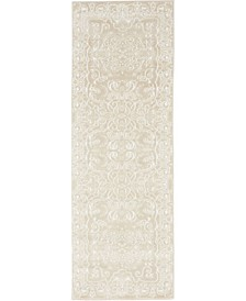 Bridgeport Home Marshall Mar4 Snow White 2' x 6' Runner Area Rug