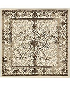 Aldrose Ald6 Brown 8' x 8' Square Area Rug