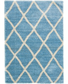 Bridgeport Home Latisse Shag Lts1 Light Blue 7' x 10' Area Rug