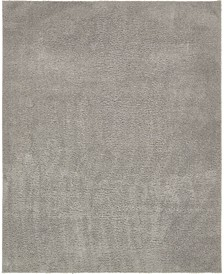 Salon Solid Shag Sss1 Light Gray 8' x 10' Area Rug