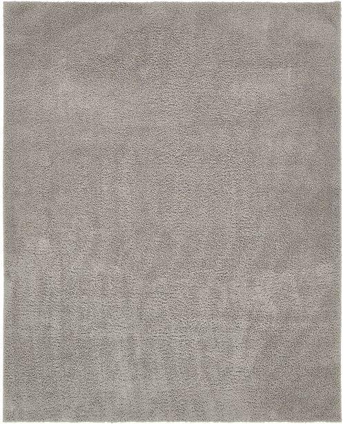 Bridgeport Home Salon Solid Shag Sss1 Light Gray 8' x 10' Area Rug