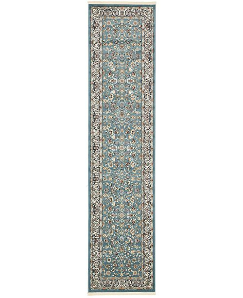 Bridgeport Home Zara Zar1 Blue 3' x 13' Runner Area Rug