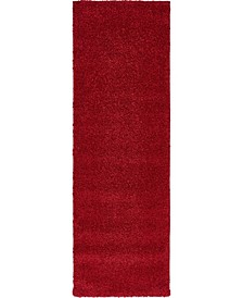 """Uno Uno1 Red 2' 2"""" x 6' 7"""" Runner Area Rug"""