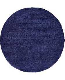 Uno Uno1 Navy Blue 6' x 6' Round Area Rug