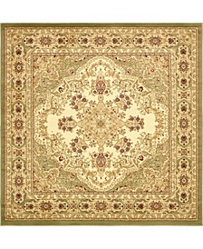 Belvoir Blv1 Ivory/Green 8' x 8' Square Area Rug
