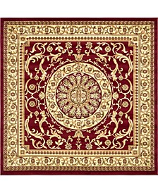 Belvoir Blv2 Red 8' x 8' Square Area Rug