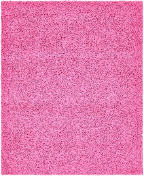 Bridgeport Home Exact Shag Exs1 Taffy Pink 8' x 10' Area Rug
