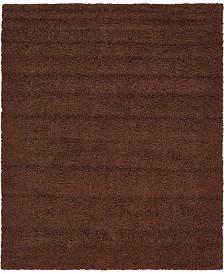 Bridgeport Home Exact Shag Exs1 Chocolate Brown 8' x 10' Area Rug