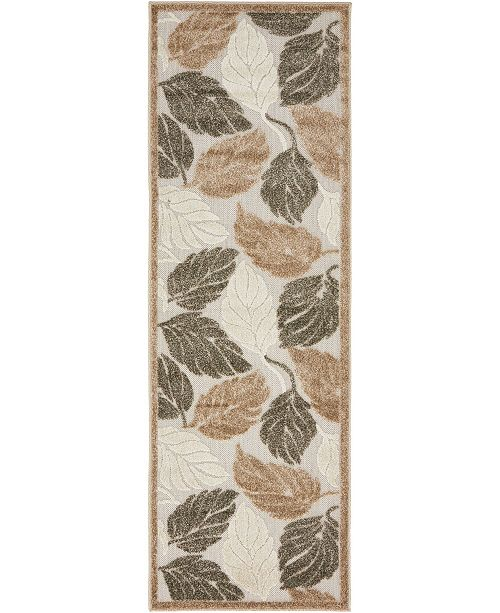 Bridgeport Home Pashio Pas2 Beige/Gray 2' x 6' Runner Area Rug