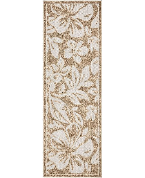 Bridgeport Home Pashio Pas3 Beige 2' x 6' Runner Area Rug
