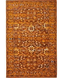 Bridgeport Home Linport Lin3 Terracotta 4' x 6' Area Rug
