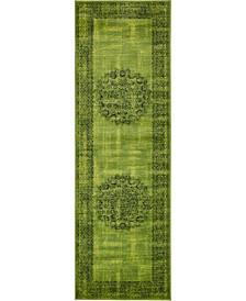 "Linport Lin5 Sage Green 3' x 9' 10"" Runner Area Rug"