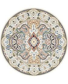 Zara Zar2 Ivory 10' x 10' Round Area Rug