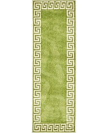 Bridgeport Home Anzu Anz2 Light Green 2' x 6' Runner Area Rug