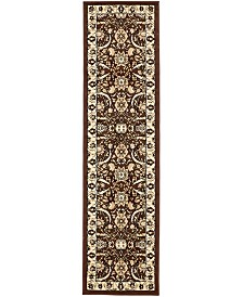 "Bridgeport Home Aelmoor Ael1 Brown 2' 2"" x 8' 2"" Runner Area Rug"
