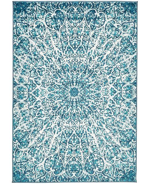 Bridgeport Home Basha Bas4 Turquoise 4' x 6' Area Rug