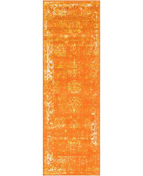 "Bridgeport Home Basha Bas1 Orange 2' x 6' 7"" Runner Area Rug"