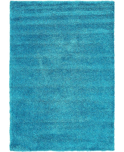 "Bridgeport Home Uno Uno1 Turquoise 5' x 7' 7"" Area Rug"
