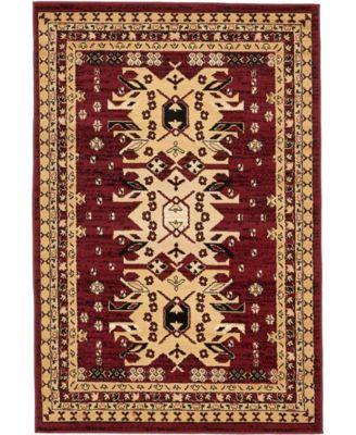 Charvi Chr1 Red 5' x 8' Area Rug