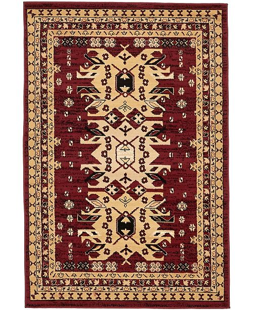 Bridgeport Home Charvi Chr1 Red 4' x 6' Area Rug