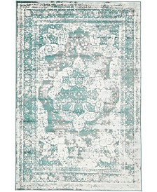 Bridgeport Home Basha Bas2 Turquoise 5' x 8' Area Rug