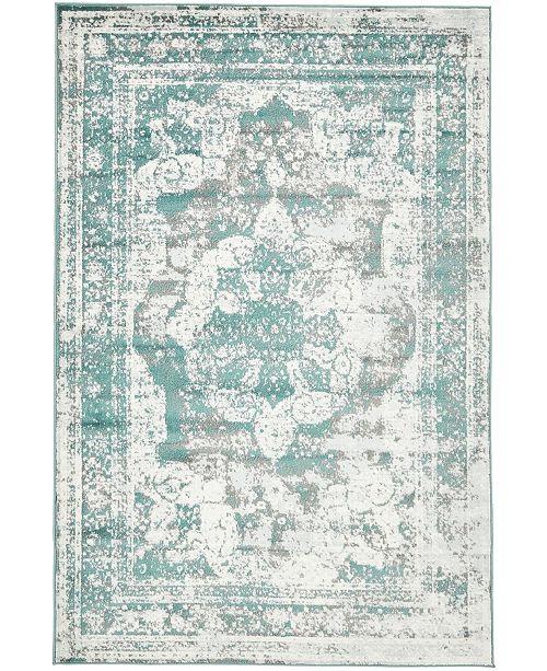 Bridgeport Home Basha Bas2 Turquoise 5' x 8' Area Rug