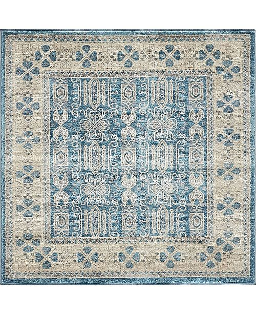 Bridgeport Home Bellmere Bel1 Light Blue 4' x 4' Square Area Rug