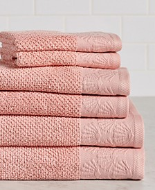 Coastal Shell 6-Piece 100% Cotton Bath Towel Set