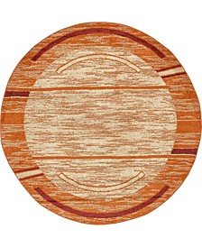 Jasia Jas11 Beige 8' x 8' Round Area Rug