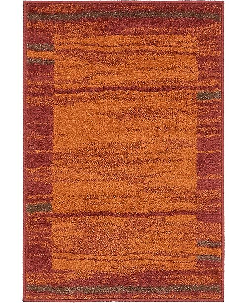 Bridgeport Home Jasia Jas11 Terracotta 2' x 3' Area Rug